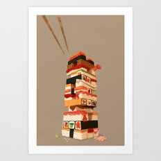 Sushi Jenga Art Print