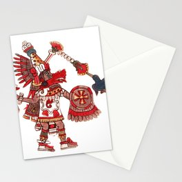 Dancing Aztec shaman warrior Stationery Cards