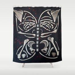 Butterfly Skeleton Shower Curtain