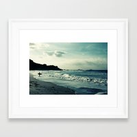 surf Framed Art Prints featuring Surf by Hilary Upton