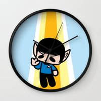 spock Wall Clocks featuring Spock by Ziqi
