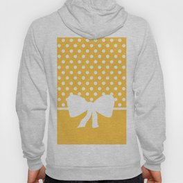 Dots dip-dye pattern with cute bow in yellow Hoody
