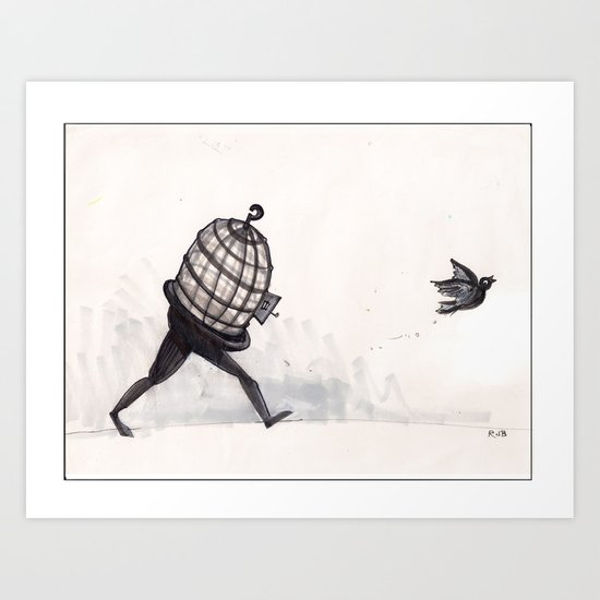 """I know why the caged bird...""  Art Print"