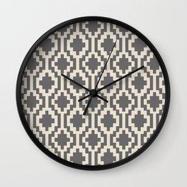 Mapuche Natural Black Wall Clock