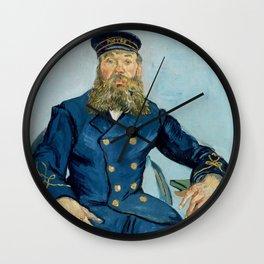 Vincent van Gogh - Portrait of Joseph Roulin Wall Clock