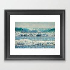 SURF-ACING Framed Art Print