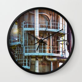 Oil Refinement Wall Clock