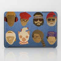 wes anderson iPad Cases featuring Wes Anderson Hats by godzillagirl