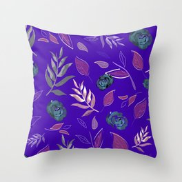 Simple and stylized flowers 13 Throw Pillow