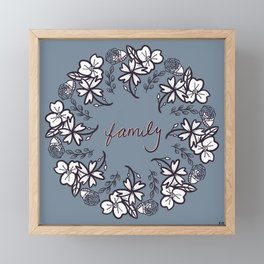 family floral wreath Framed Mini Art Print