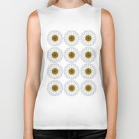 daisy Biker Tanks featuring Daisy by Lorelei Douglas