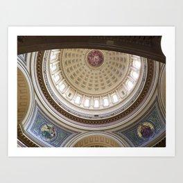 Wisconsin Capitol Building Rotunda 1 Art Print