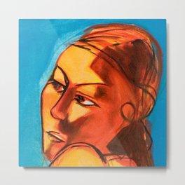 Lena Blue - Close Up Metal Print