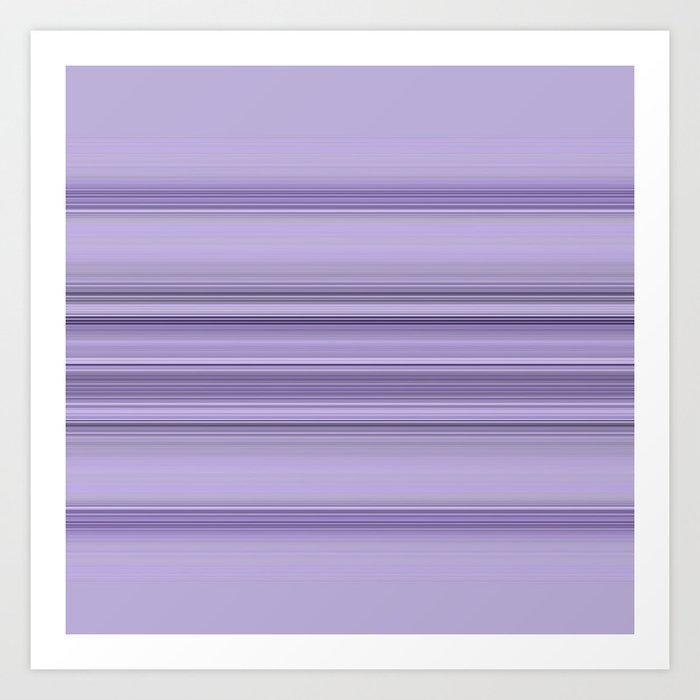 Pantone Purple Stripe Design Art Print
