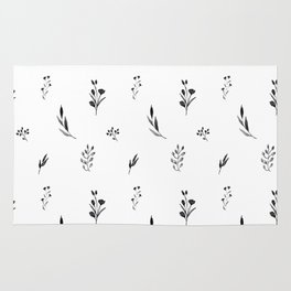 Little botanics black&white Rug