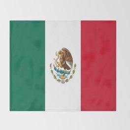 Flag of mexico- mexico,mexico city,mexicano,mexicana,latine,peso,spain,Guadalajara,Monterrey Throw Blanket