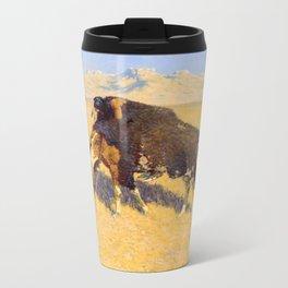 Frederic Remington - Indians Simulating Buffalo, 1908 Metal Travel Mug