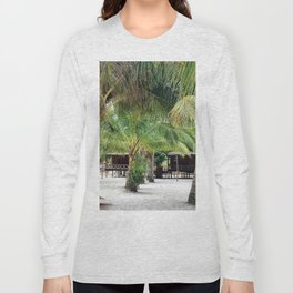 Bungalows on Palm Beach Long Sleeve T-shirt