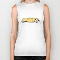 great gatsby Biker Tanks featuring Great Gatsby Yellow Roadster by JasonKoons