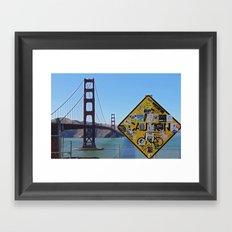 San Francisco- Golden Gate Stickers Framed Art Print