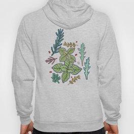 herbs pattern Hoody