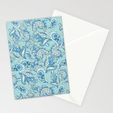 Blue Paisley Stationery Cards