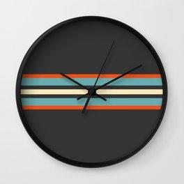 Classic Retro Stripes Amikiri Wall Clock