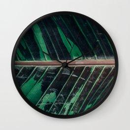Camo Leaf in Full Frame Wall Clock