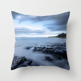 Swimming the blues Throw Pillow