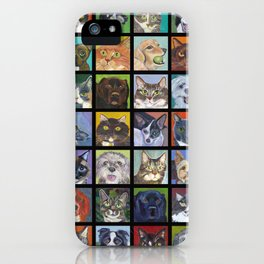 Cats and Dogs in Black iPhone Case