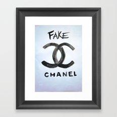 ''FAKE'' Framed Art Print