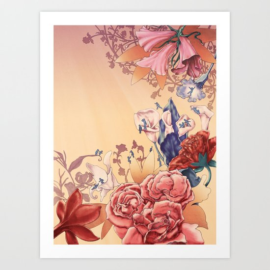 The flowers Art Print