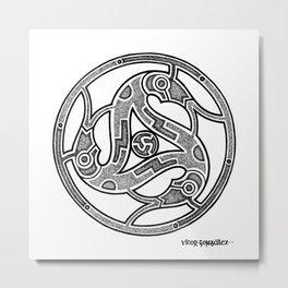 Dotwork Vendel Triskele Metal Print