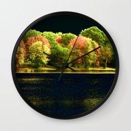 Autumn At Night Wall Clock