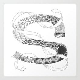 "Zenletter ""S"" Art Print"