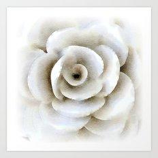 White Flower Art Art Print