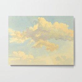 Watercolor Sunrise Clouds Heavenly Pastel Warm Colors Metal Print