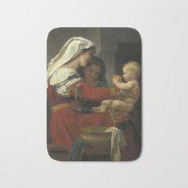 "William-Adolphe Bouguereau ""Admiration maternelle - le bain"" Bath Mat"