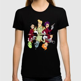 Nimbus Crew: Leela, Fry,Bender, Amy,Kif and Zapp T-shirt