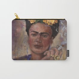 Frida Kahlo Take No Prisoners While Smoking Carry-All Pouch