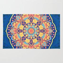 Multicolor New Age Zen Yoga Lover Far Out Mandala Spiral Rug