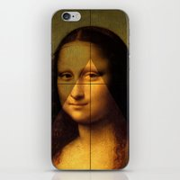 mona lisa iPhone & iPod Skins featuring MONA LISA by Ancient