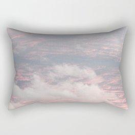 Cloud layers of Pink Rectangular Pillow