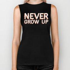 Never Grow Up Biker Tank