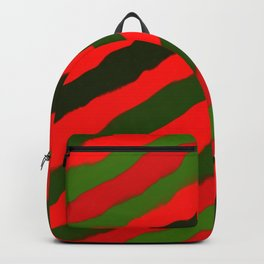 Merry Red Green Holiday Stripes Backpack