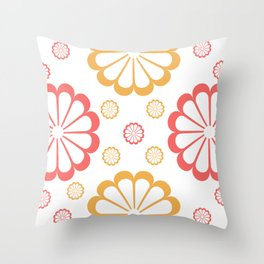 Minimal Abstract Lucite green, Coral, Grey, Honey, and White 09 Throw Pillow