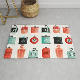 Flask Collection – Red & Turquoise Palette Rug