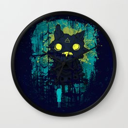 Forest Monster and Little Girl Wall Clock