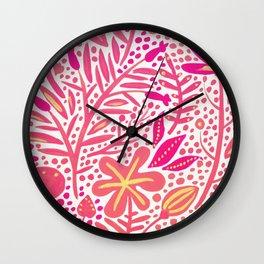 Garden – Pink Palette Wall Clock