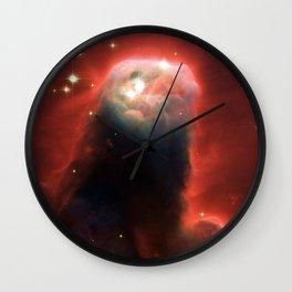 Space pillar of gas Wall Clock